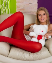 Girl In Red Nylons Gets Her Tight Asshole Stuffed - Picture 1