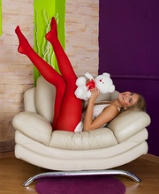Girl In Red Nylons Gets Her Tight Asshole Stuffed - Picture 2
